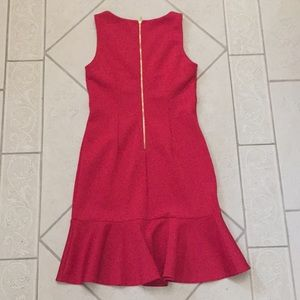 Spense Dresses - Red frill-bottom scuba-like Spense dress